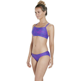 speedo Boom Allover 2 Piece bikini Dames, ultramarine/diva